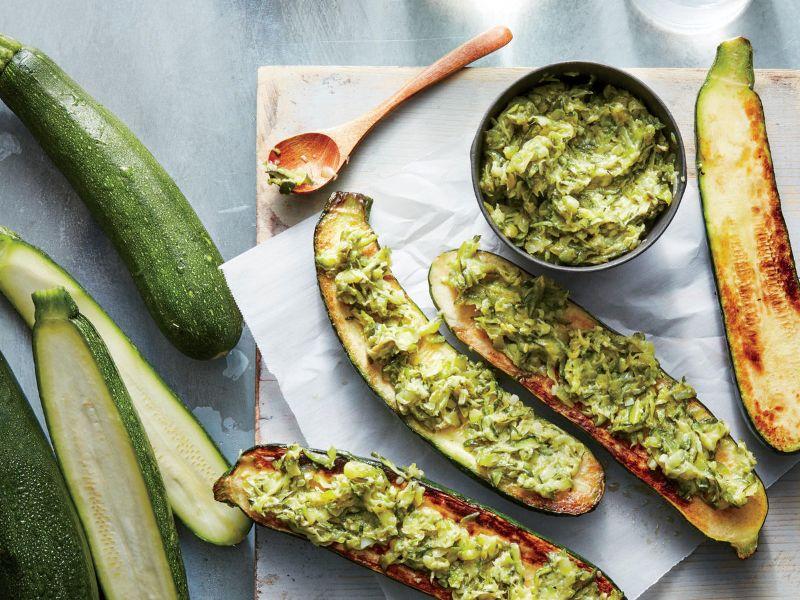 how to cook zucchini stuffed grilled zucchini