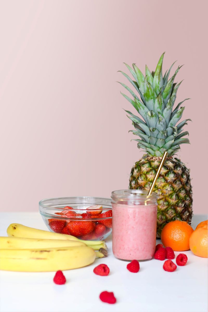 plant based diets pineapple raspberry smoothie