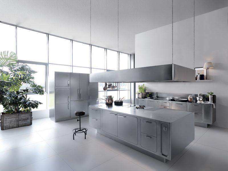 steel kitchen with kitchen island cabinets
