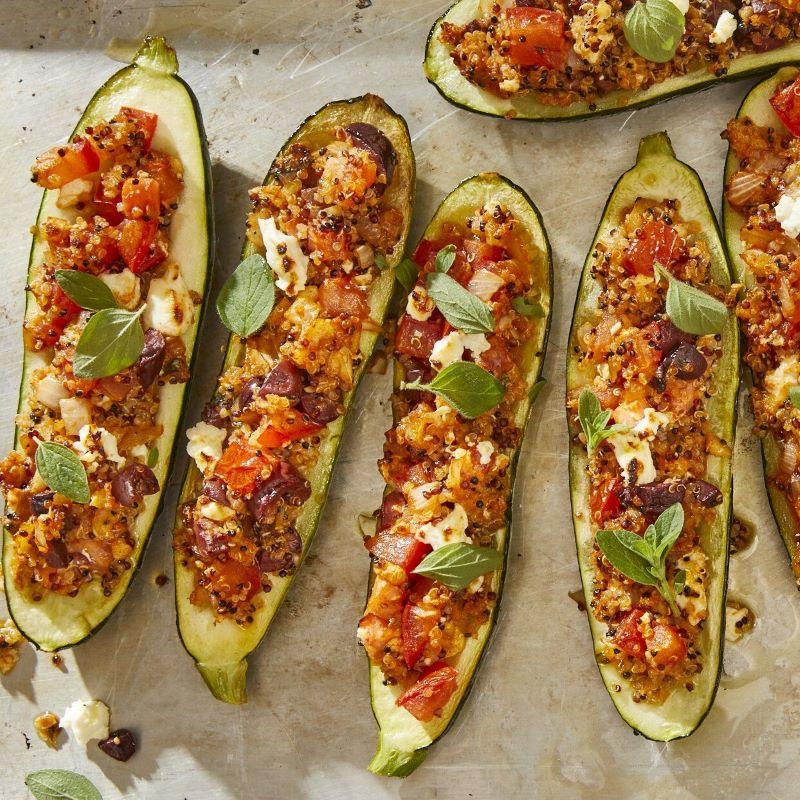 stuffed zucchini best zucchini recipes with basil