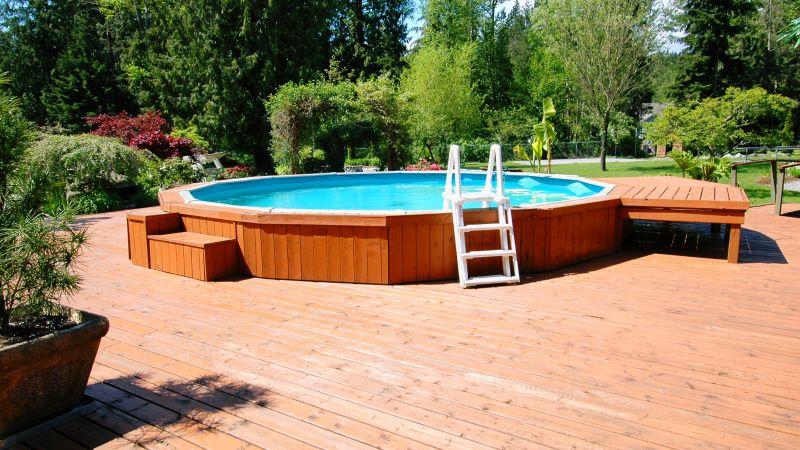 transform your backyard above ground pool