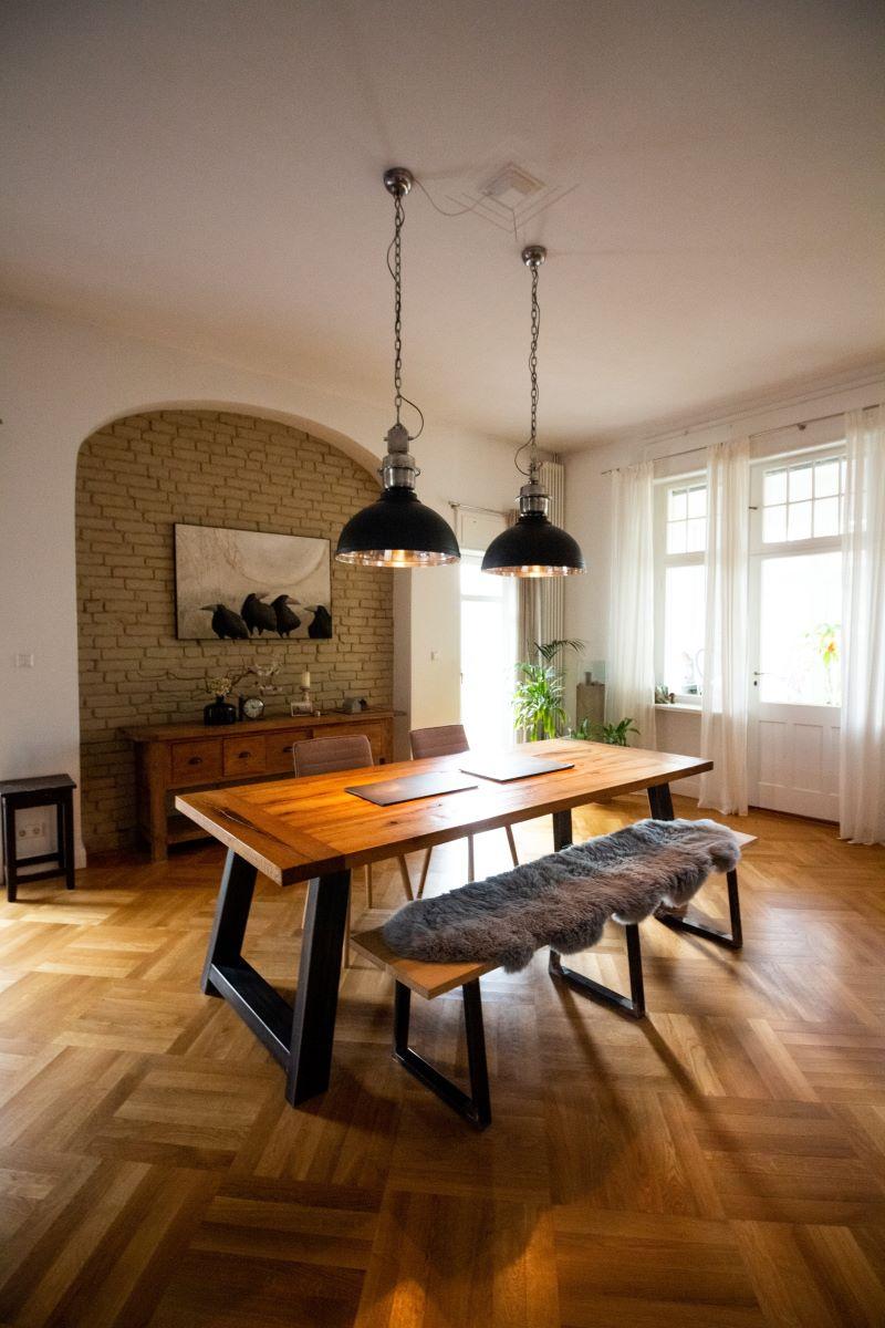 types of wood flooring dining room
