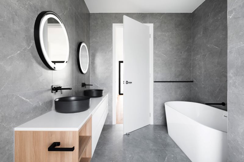 bathroom design cleaning every room in gray