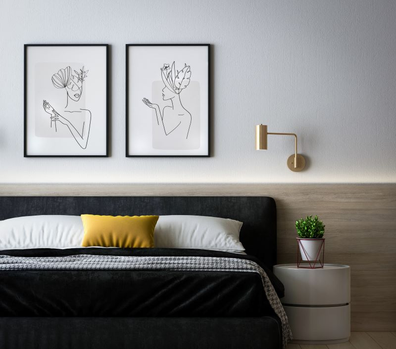 cleaning every room bedroom framed art