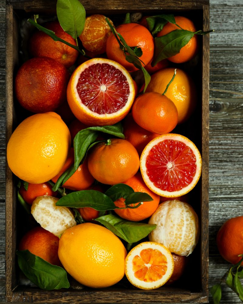 crate of citrus fruits liver detox