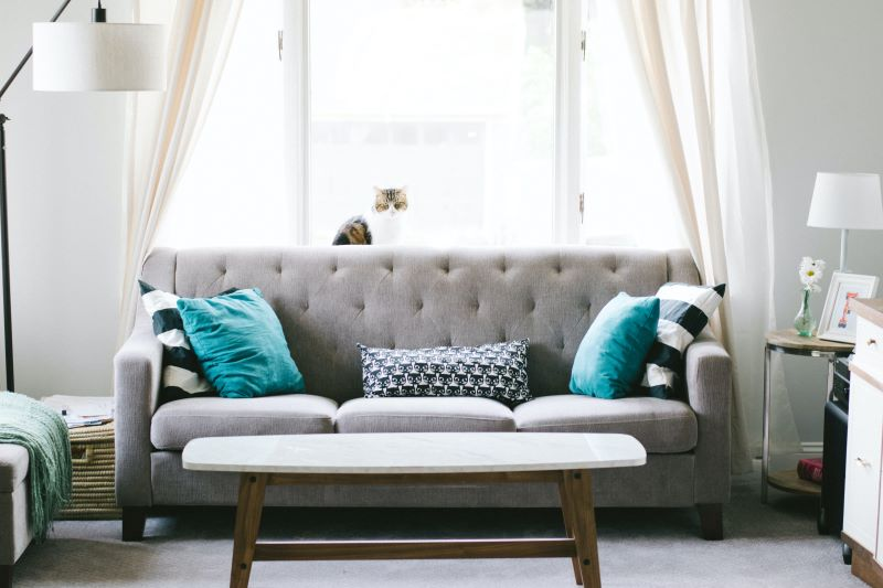 gray sofa blue pillows find a sofa that fits
