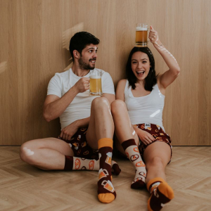 High socks with fun prints - the perfect gift for every occasion