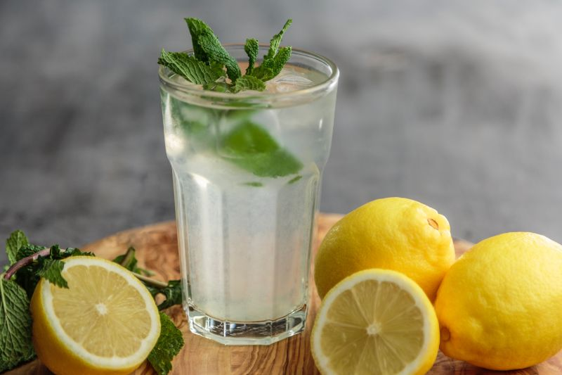 is lemon water good for you in glass with mint