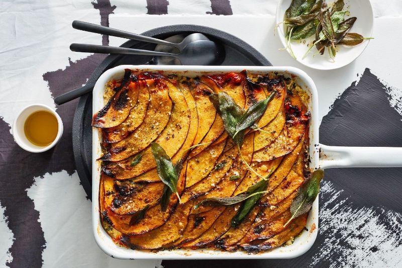 layered pumpkin lasagna pumpkin puree recipes
