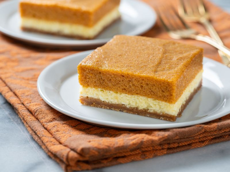 pumpkin cheesecake slice pumpkin puree recipes