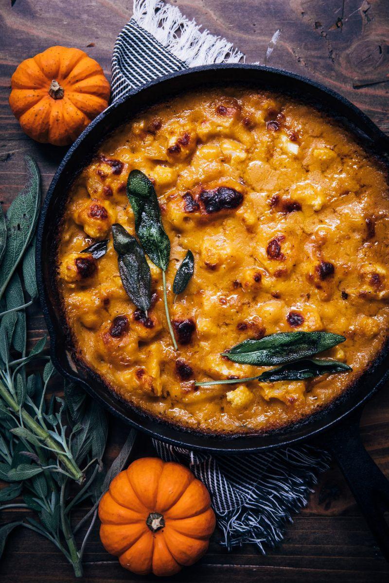 pumpkin gratin in skillet healthy pumpkin recipes