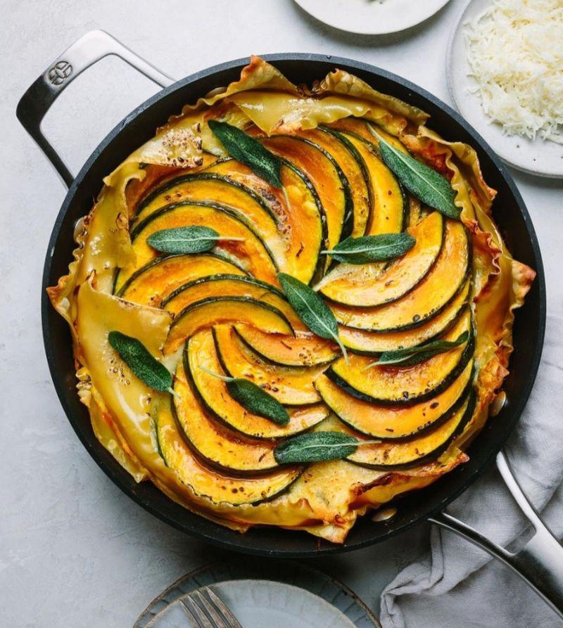 pumpkin lasagna pumpkin recipes in skillet