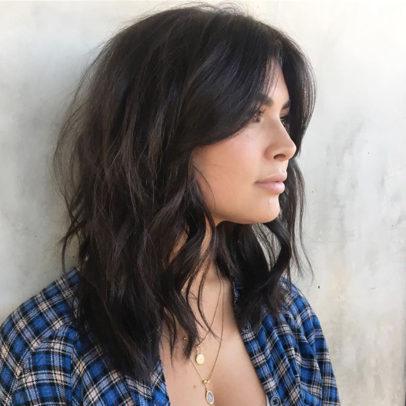 brunette short hair how to style curtain bangs
