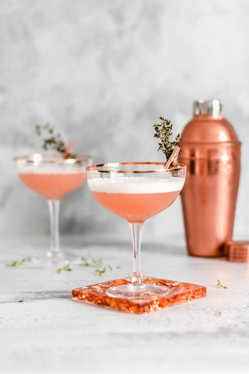 classic gin cocktails rose gold cocktail