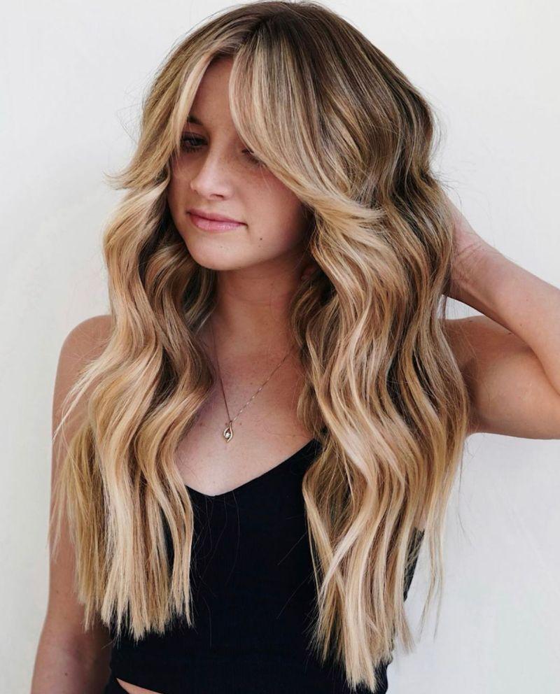 curtain bangs straight hair blonde hair