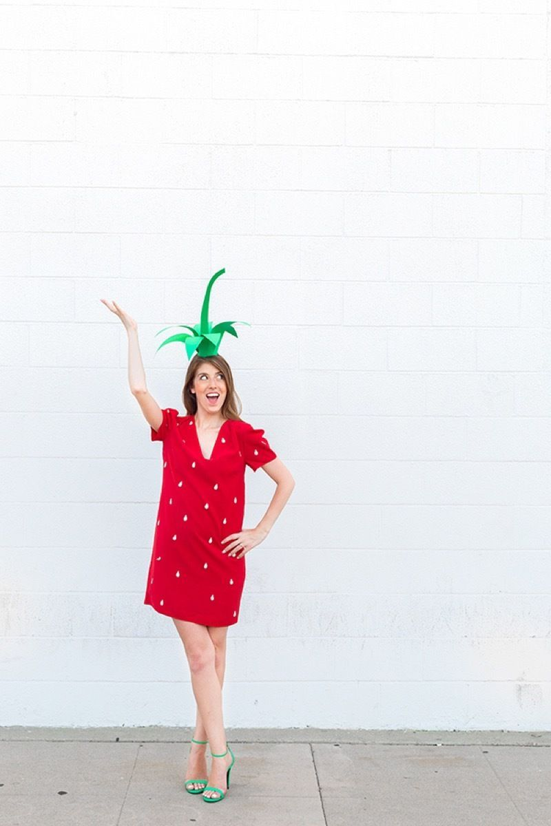 diy strawberry costume costumes for women