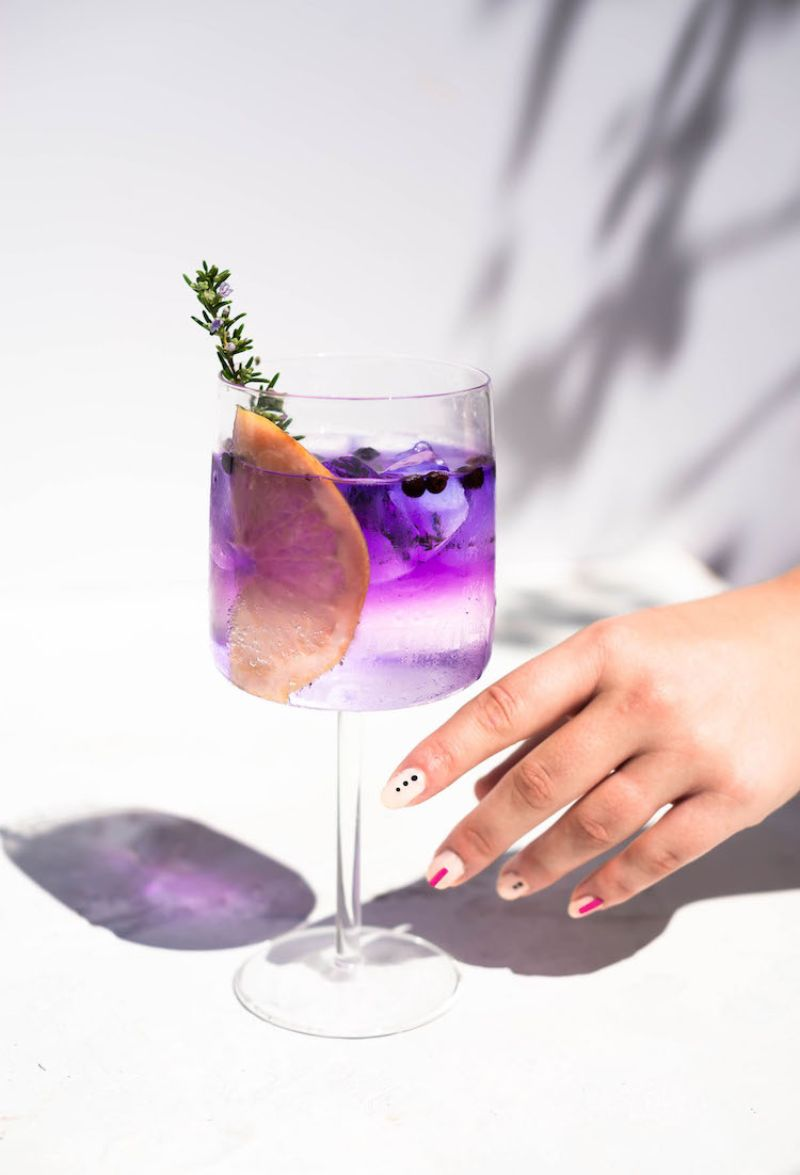 empress gin cocktail recipes in purple