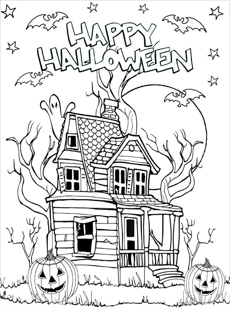 free halloween printables spooky house