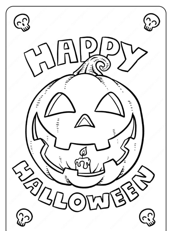 halloween coloring sheets scary pumpkin