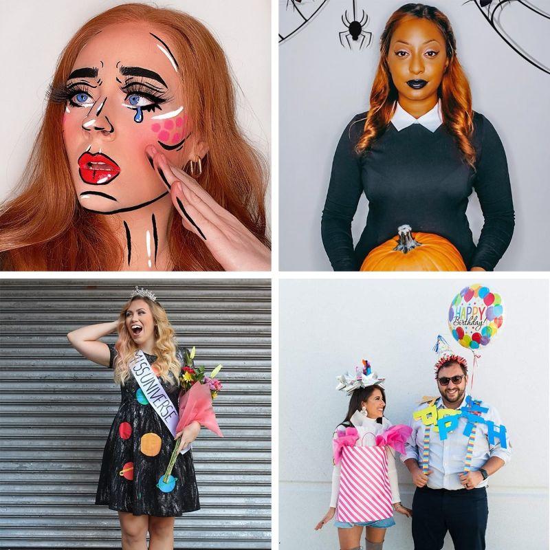 halloween costume ideas four photo collage