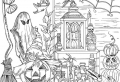 Get spooky with these Halloween coloring pages