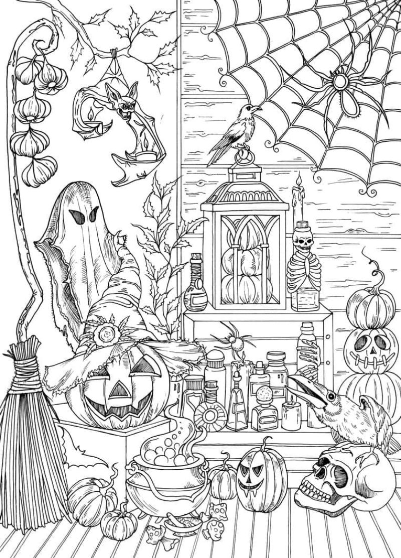 halloween decorations halloween coloring sheets inside