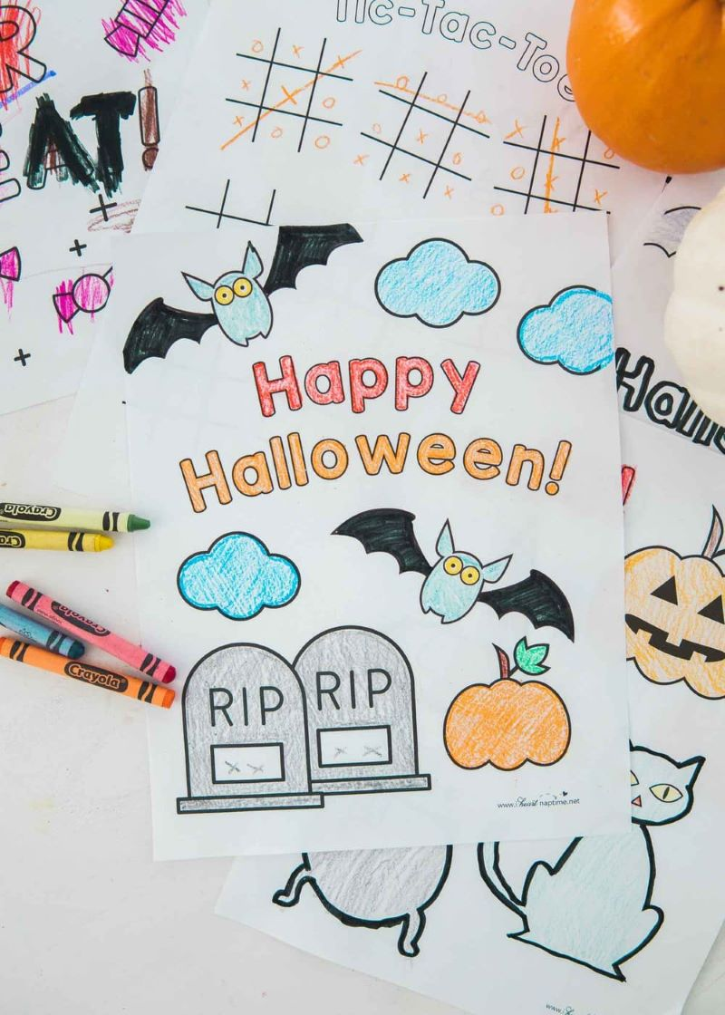 happy halloween draiwng halloween coloring pages