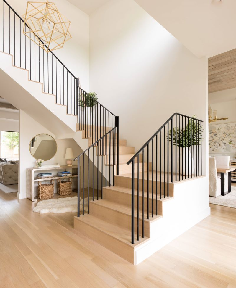 l shaped wooden staircase types of stairs