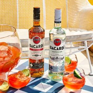 malibu rum drinks two bacardi bottles