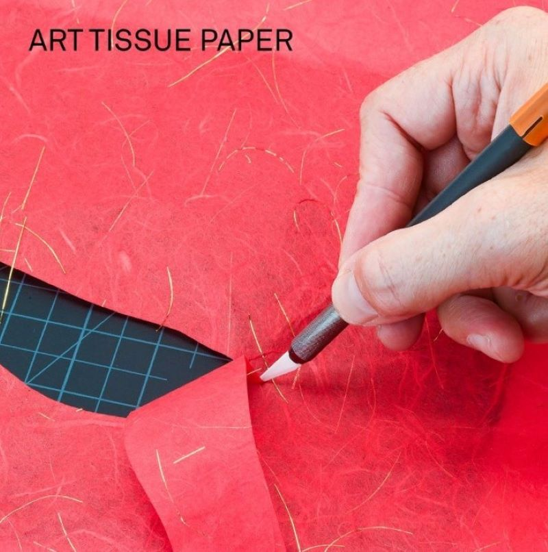most common crafting tool cutting tissue paper