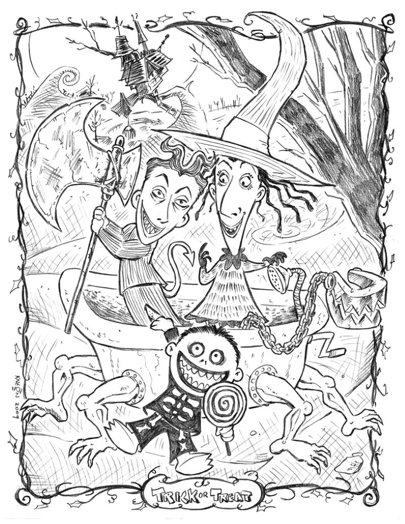 nightmare before christmas halloween coloring sheets characters