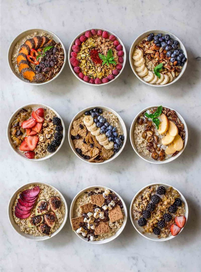 nine different bowls is oatmeal good for you