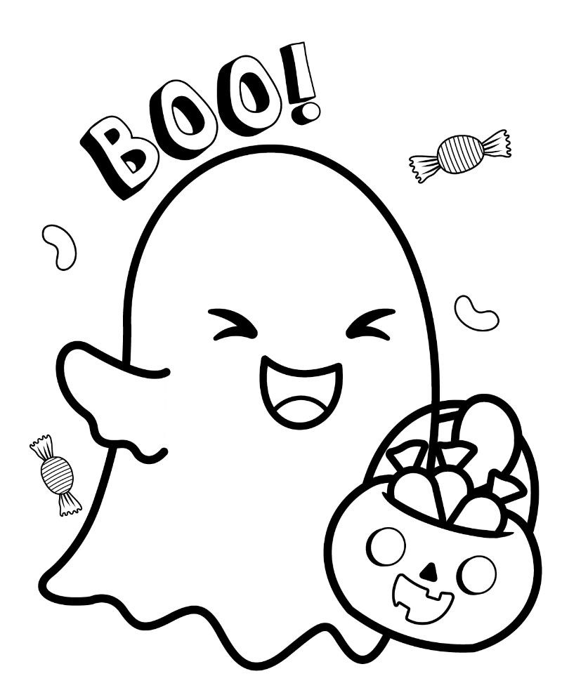 printable coloring pages ghost trick ot treating