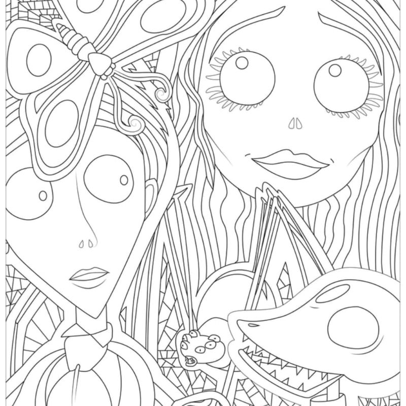 printable halloween coloring pages corpse bride