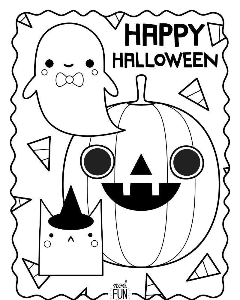 pumpkin cat ghost printable coloring pages