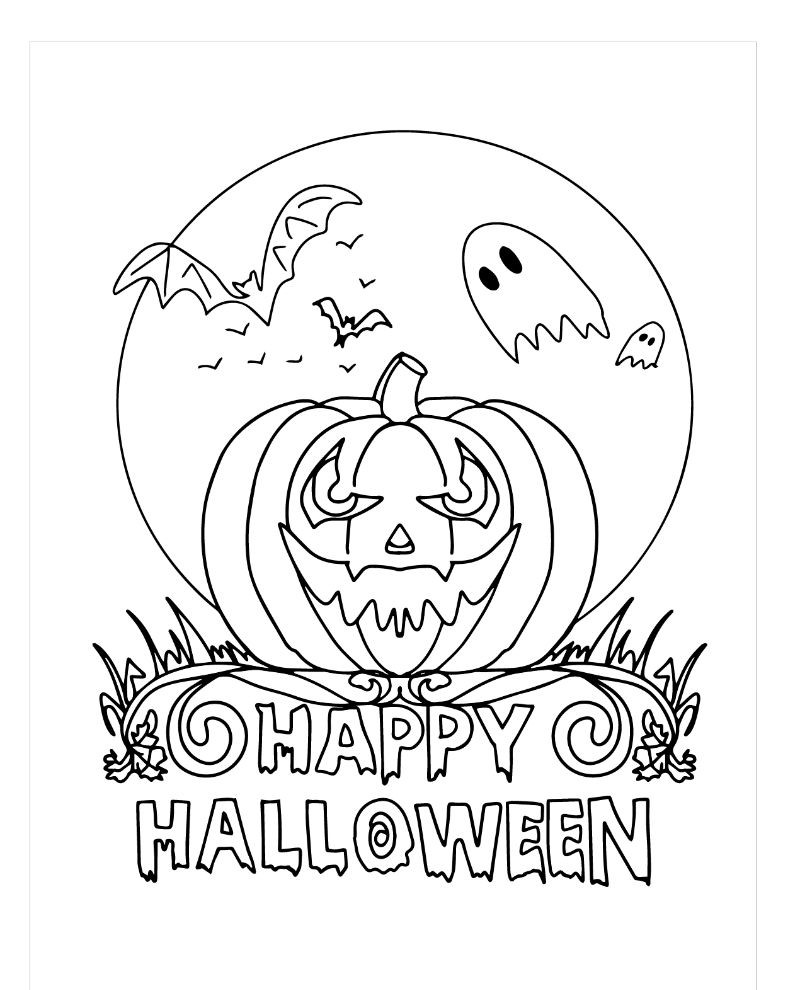 scary pumpkin free halloween printables carved