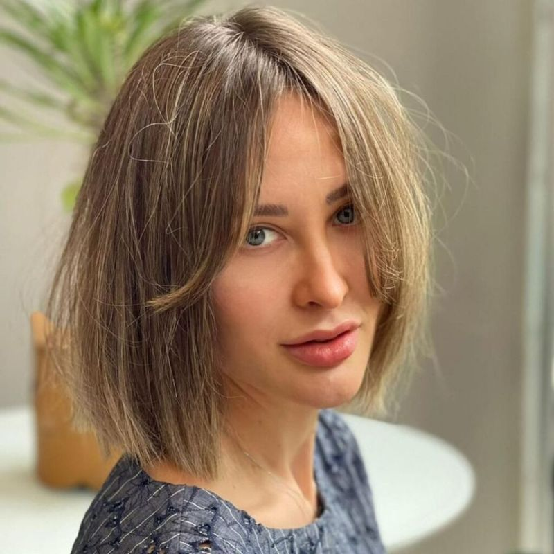 short blonde hair how to style curtain bangs