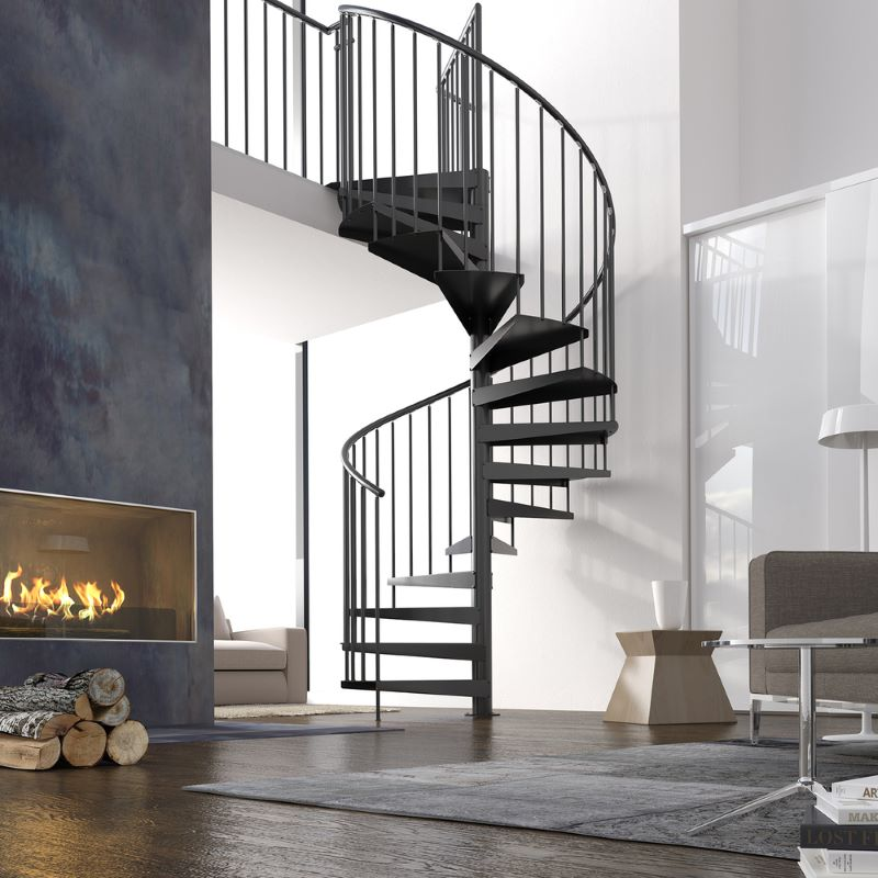 spiral staircase types of stairs metal railing
