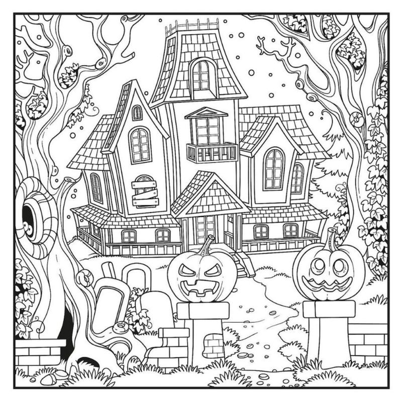 Get spooky with these Halloween coloring pages - archziner.com