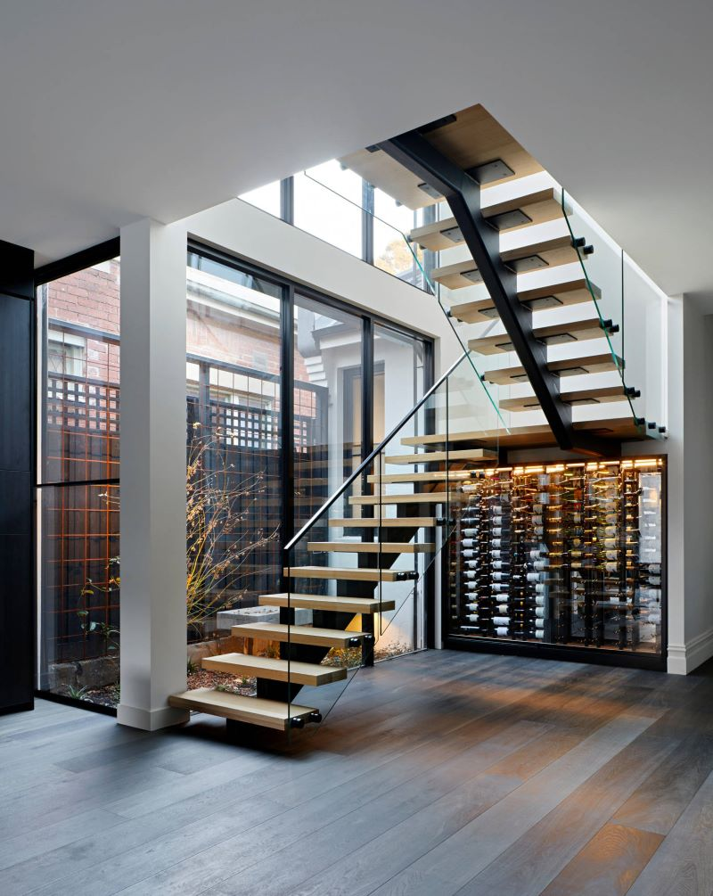 u shaped metal staircase types of stairs