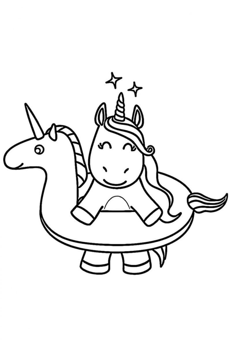unicorn float unicorn coloring pages